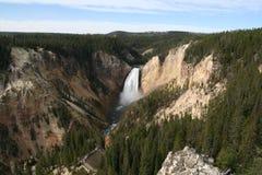 расстояние понижается более низкий yellowstone Стоковые Изображения