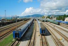 расстояния поезда длиной Стоковые Изображения