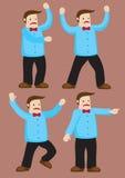 Расстроенная иллюстрация вектора человека шаржа Стоковые Фото