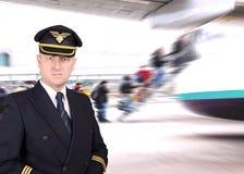 Расстроенное пилотное ждущ отклонение стоковое фото