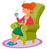 Расслабляющая женщина Стоковое фото RF