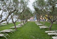 Расслабляющее место на Ionian острове, Греции Стоковые Изображения RF
