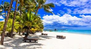 Расслабляющие тропические праздники в острове Маврикия стоковое изображение rf