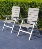 Расслабляющий стул на парке Стоковое Фото