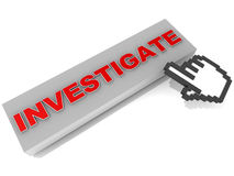 Расследуйте деятельность при информационной технологии Стоковое фото RF