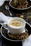 Растворимый кофе с молоком Стоковое Изображение