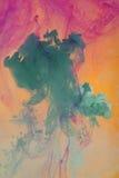 растворяя вода краски Стоковые Изображения RF