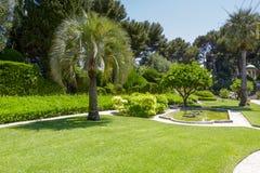 Растительность Виллы Ephrussi de Rothschild Стоковые Изображения RF