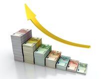 расти евро иллюстрация вектора