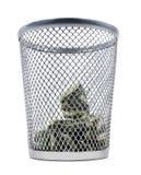 Расточительствовать деньги стоковое изображение