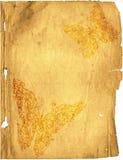 Растрепанная старая бумажная страница Стоковое Изображение