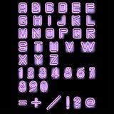 растр алфавита неоновый розовый Стоковые Изображения
