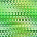 Растр безшовное зеленое Colol затеняет картину вертикальных нашивок и кругов градиента Стоковая Фотография RF