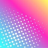Растр искусства шипучки Предпосылка радуги цвета и белых точек Иллюстрация штока