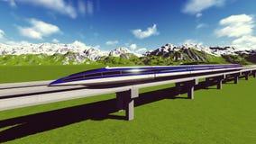 Растр 10 поезда Maglev иллюстрация штока