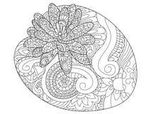 Растр расцветки цветка лилии воды для взрослых бесплатная иллюстрация