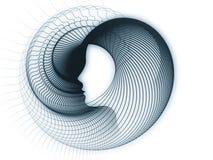 Растущая геометрия души иллюстрация штока