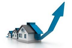 Растущая диаграмма внутренней продажи Стоковая Фотография RF