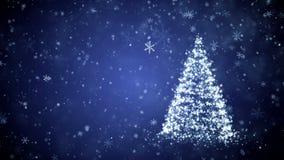 Растущее дерево Нового Года видеоматериал