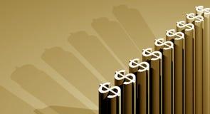 растущие деньги Стоковое Изображение RF