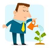 растущие деньги Стоковые Изображения RF