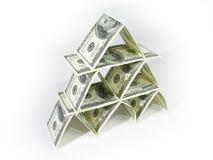 растущие деньги наше ваше Стоковое Изображение RF