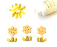 растущие multi поднимающие вверх витамины Стоковые Изображения