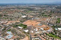 Растя Гилберт, Аризона от сельского хозяйства к живой общине спальни стоковые изображения rf