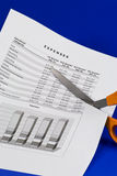 расходы вырезывания Стоковое Изображение RF