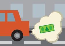 Расход топлива автомобиля Иллюстрация вектора