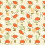 Расцветайте безшовная нарисованная маргаритки текстуры Camomiles картины предпосылка чувствительной яркая с цветками весны Стоковые Фото
