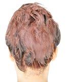Расцветка волос в процессе Стоковые Изображения
