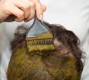 Расцветка волос Стоковая Фотография