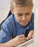 расцветка мальчика книги Стоковые Изображения RF