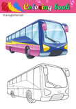 Расцветка туристического автобуса Иллюстрация штока
