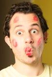 расцелованный человек Стоковая Фотография RF