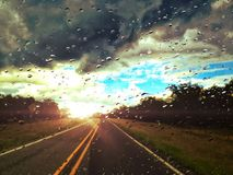 Расцелуйте заход солнца Стоковая Фотография