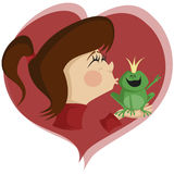 Расцелуйте лягушку! Стоковые Фото