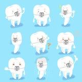 Расчалка носки зуба делает эмоцию Стоковое Изображение RF
