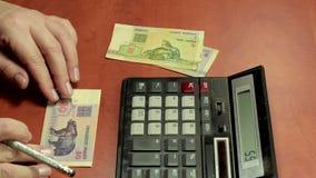 Расчетливые старые белорусские деньги сток-видео