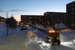 Расчистка снега Стоковая Фотография