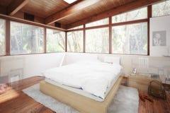 Расширение веранды к дизайну спальни бесплатная иллюстрация
