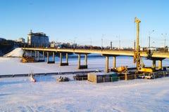 Расширение моста через залив Стоковые Фотографии RF