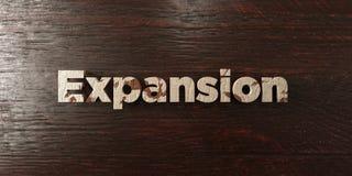 Расширение - grungy деревянный заголовок на клене - представленное 3D изображение неизрасходованного запаса королевской власти иллюстрация вектора