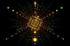 Расщепление столкновения частицы иллюстрация вектора