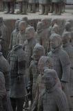 Ратники армии терракоты Стоковое фото RF