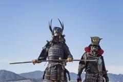 Ратники самураев Стоковая Фотография