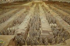 Ратники терракоты от Xian Стоковые Изображения RF