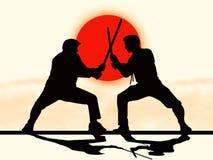 ратники japanesse иллюстрация вектора