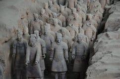 Ратники Qin Стоковые Изображения